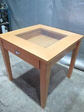 Tisch Vitrine Verkaufstisch Präsentationstisch Massivholz Schmucktisch #22830