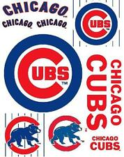 Chicago Cubs Scrapbooking Craft Sticker Sheet Set #1