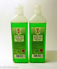 Einszett Kristal Klar Washer Fluid Concentrate 150ml x 2.  (Makes up 2 Gallons)