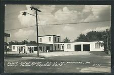 MO Hannibal RPPC 1947 CLAY'S MOTOR COURT on US Hwy 61 GAS PUMPS by Cook E-121