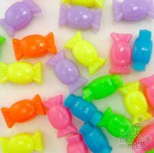 100pcs Mixed Plastic Candy Beads lot 15x8MM DIY Jewlery Making Craft