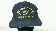 Vintage Desert Storm - Persian Gulf Snap Back Black Hat OS USA Ball