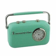 Wm Widdop Miniature Clock 50s - Vintage Transistor Radio in Green