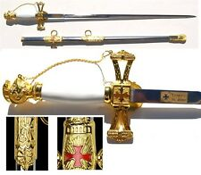 Knights of St. John Sword with metal scabbard ( gold )