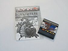 Atari Lynx Shanghai with Manual Video Game Console Handheld System