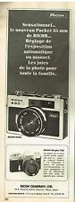 Publicité Advertising 1972 Appareil Photo Ricoh 500 G Pocket