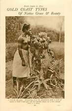 1920 Gold Coast Beautiful Native Girls Harvesting Maize