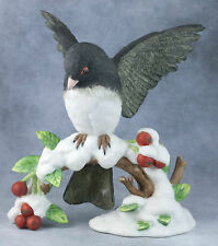 Lenox Porcelain Bisque Garden Birds Dark Eyed Junco Bird Figurine 1991