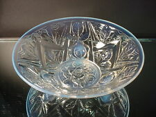 Rare Jobling Glass Sculptural Flared Tudor Rose Opalescent Bowl Art Deco Opaline