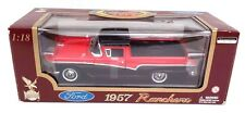 Road Legends 1957 Red & Black Ford Ranchero 1:18 Scale Diecast Car Model (NIB)