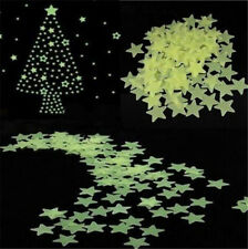 100Pcs Home Wall Light Green Glow In The Dark Star Stickers Decal Baby Kids Gift