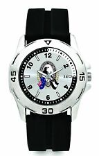 855057 COLLINGWOOD MAGPIES AFL TEAM LOGO SUPPORTER SERIES MENS WATCH