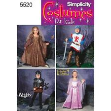 SIMPLICITY SEWING PATTERN Unisex Child Fantasy Costumes 3 - 8  5520
