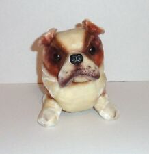 Vintage Kamar Plush American English Bulldog Dog Tan Brown Cream Japan P61