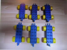 LEGO DUPLO VEHICLE TRAIN CARS TOY LOT SET - BLUE