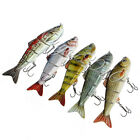"4.8"" Multi Jointed Fishing Hard Lure Bait Swimbait Bass Minnow Life Like Hooks"