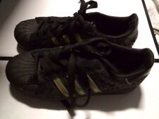 ADIDAS ORIGINALS STAR WARS Black With Gold Super Star US 8.5