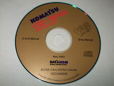 KOMATSU D75A-3 TO D575A-3 DOZER BULLDOZER SERVICE SHOP REPAIR MAINTENANCE MANUAL