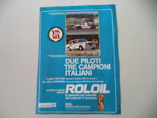 advertising Pubblicità 1980 ROLOIL ROL OIL e FIAT ABARTH 131
