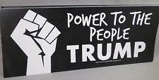 WHOLESALE LOT OF 10 TRUMP POWER TO THE PEOPLE FIST BUMPER STICKERS PRESIDENT '16