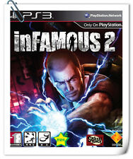 PS3 SONY PLAYSTATION Games INFAMOUS 2 Action Adventure BULK LOOSE PACKING