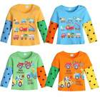 NEW Toddler Baby Kids Boys Top Tee T-shirt Free Shipping Size 1-4Y A2
