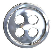 ONE STERLING SILVER BUTTON WITH FOUR HOLES, 11.5 MM