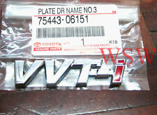 VVTI VVT-i toyota racing badge decal logo sticker plate JDM NEW!! GENUINE PARTS