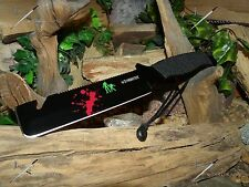 Hunting/Camping/Knife/Bowie/Saw/Chisel/Full tang/Heavy duty/Paracord 550/Zombie