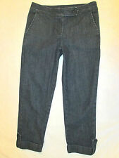 Talbots Stretch Trouser Style  Womens Dark Cropped Capri Jeans Size 0 P x 21.5