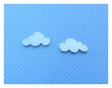 Silver Cloud Earrings - Tiny Solid Sterling Silver Cloud Small Ear Studs