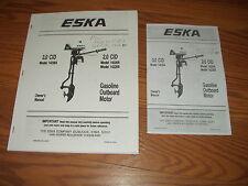 ESKA FACTORY .OUTBOARD OWNER MANUAL 3.0 CID~2.0 CID. 1984
