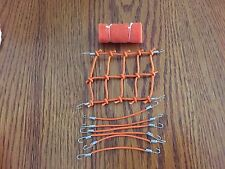 (New Item) ORANGE 1/10 Scale Roof Net + 6 Bungee Cords +Sleeping Bag RC Trail