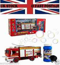 Bump & GO Powerful  Electric Bubble Fire Engine Truck With Light N Sound KidsToy