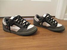 Used Worn Size 12 DVS Deacon Skateboard Shoes Gray White Black Red