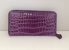 Gorgeous Ultra Luxurious Genuine Crocodile Wallet in Orchid Purple Rare