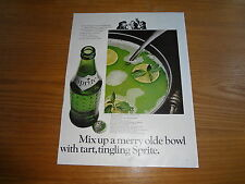 "1966 Sprite Vintage Magazine Ad ""Mix up a merry olde bowl with tart, tingling.."""