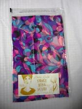 Vintage Baar & Beards Inc. Silk 'Smoke Ring' Scarf Pink, Purple, Turquoise NIP