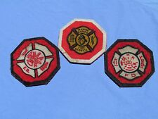 US Marine Corps USMC Fire Service patch 3 coasterrs SFFD San Francisco Fire Dept