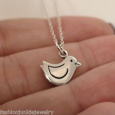 Chick Necklace - 925 Sterling Silver Charm *NEW* Chick Bird Birdie Fly Baby