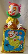 Vintage 1971 Mattel Talking Clown In-The-Box Tin Litho WORKS & TALKS GREAT