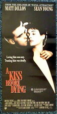 A KISS BEFORE DYING 1990s Original DB Movie Poster Sean Young, Matt Dillon