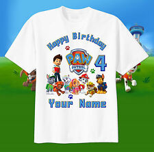 Paw Patrol Ryder TShirt CUSTOM Personalize Birthday gift favor ADD NAME AND AGE