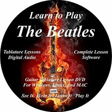 Beatles Guitar TABS Lesson CD 268 Songs + Backing Tracks + BONUS!