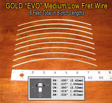 6 feet of Medium/Low Premium Jescar Gold EVO Fret Wire/Frets 10-07-02