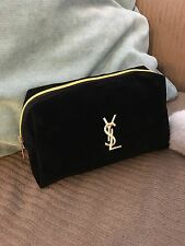 Saint Laurent Beauty YSL Make Up Bag Vanity Pouch in black