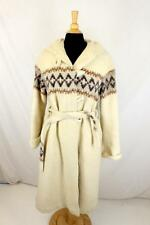 VTG Womens Winter Coat Hooded Toggle Button Full Length Mohair Wool sz Medium