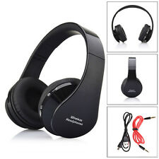 Foldable Wireless Bluetooth Stereo Headset Handsfree Headphones Mic Black A1