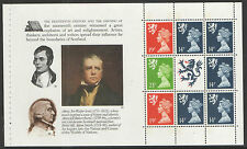 (SC3) GB QEII Stamps. The Scots Connection Prestige Booklet Pane ex DX10 1989