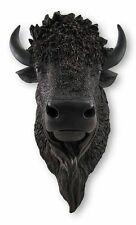 """North American Bison Buffalo Head Bust Hanging Wall Mount Home Decor Statue 19""""H"""